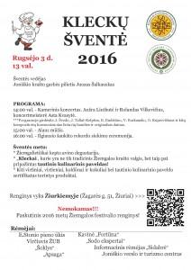 Kleckų šventė 2016 - Žiemgalos festivalis