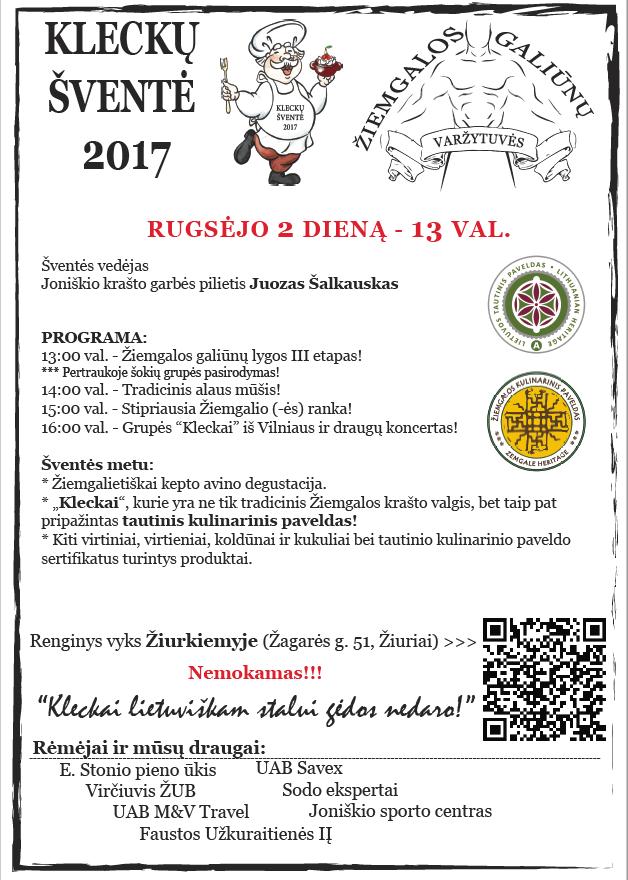 Kleckų šventės 2017 programa